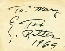 887 TEX RITTER SIGNED SIGNATURE