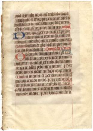 [MEDIEVAL BOOK OF HOURS]