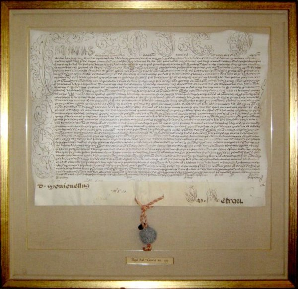 0023: POPE CLEMENT XII SIGNED PAPAL BULL DOCUMENT