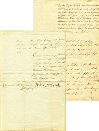 0208: HORATIO NELSON SIGNED NAVAL DOCUMENT 1805