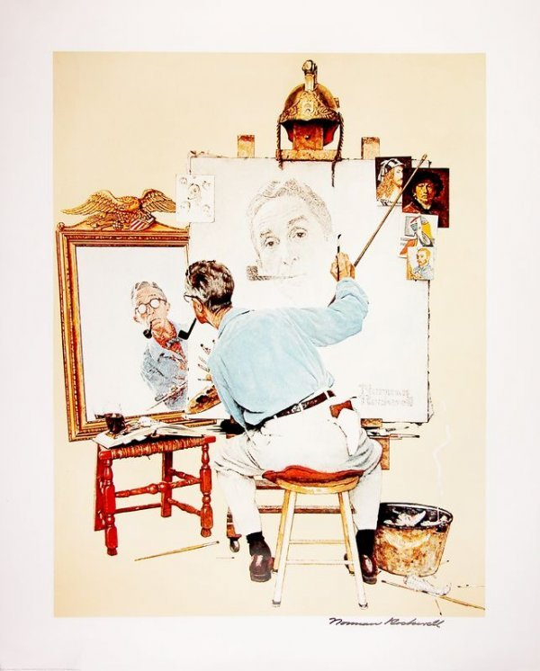 0707: NORMAN ROCKWELL SIGNED FINE ART POSTER PRINT