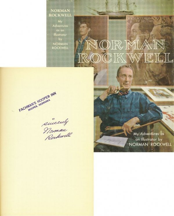 0711: NORMAN ROCKWELL SIGNED FIRST EDITION BOOK