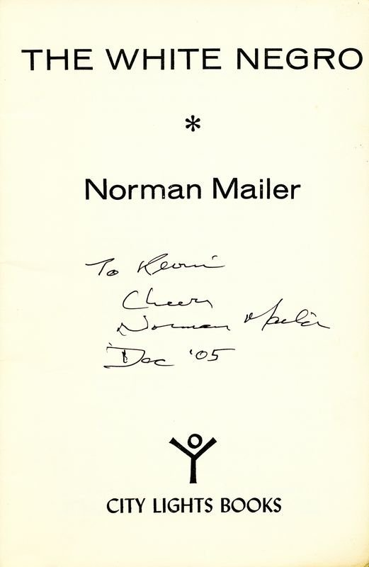 "0835: NORMAN MAILER SIGNED ""THE WHITE NEGRO"" - 2"