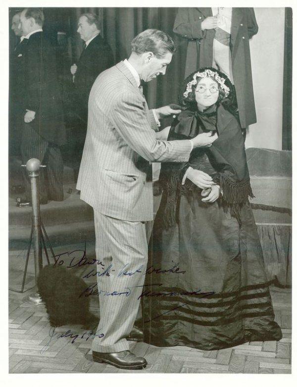 0887: BERNARD TUSSAUD SIGNED PHOTO OF MADAME'S MODEL