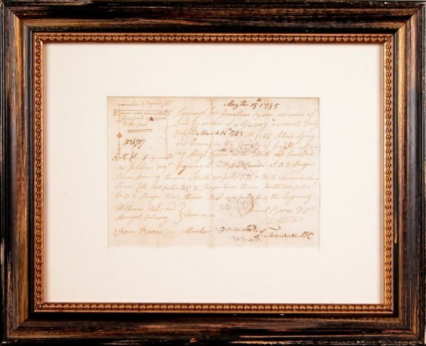 0020: DANIEL BOONE HANDWRITTEN SIGNED DOCUMENT