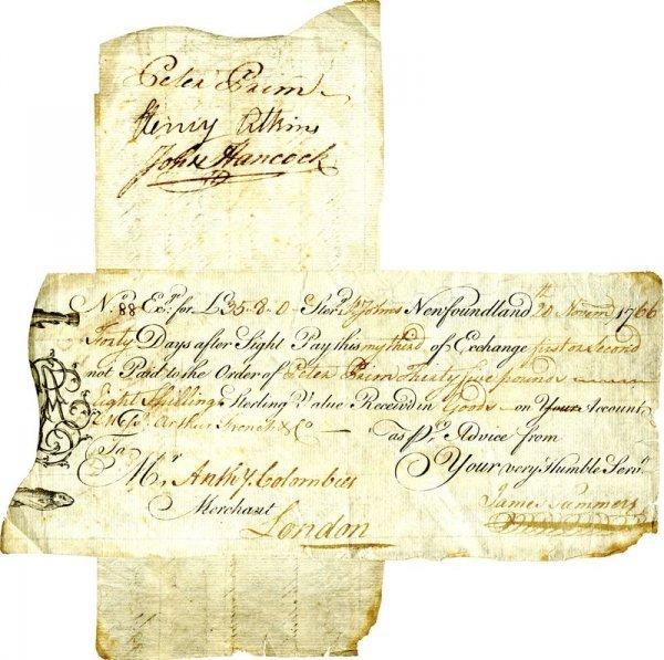 0021: JOHN HANCOCK SIGNED ENDORSED DOCUMENT