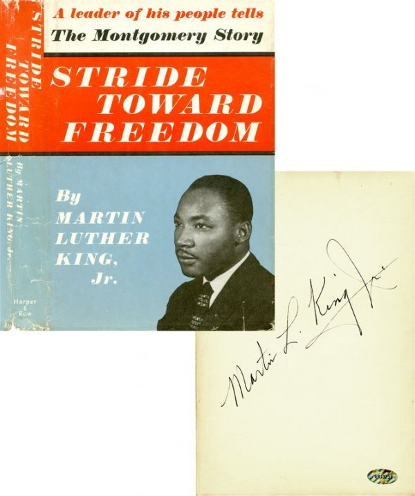 0064: MARTIN LUTHER KING SIGNED FIRST PRINTING BOOK