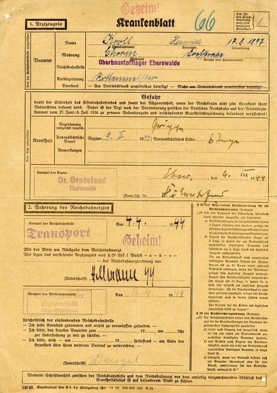 0302: WORLD WAR II LITZMANNSTADT TRANSPORT RECORD