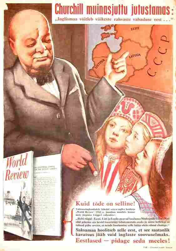 0303: NAZI ANTI-CHURCHILL & ANTI-SOVIET BROADSIDE