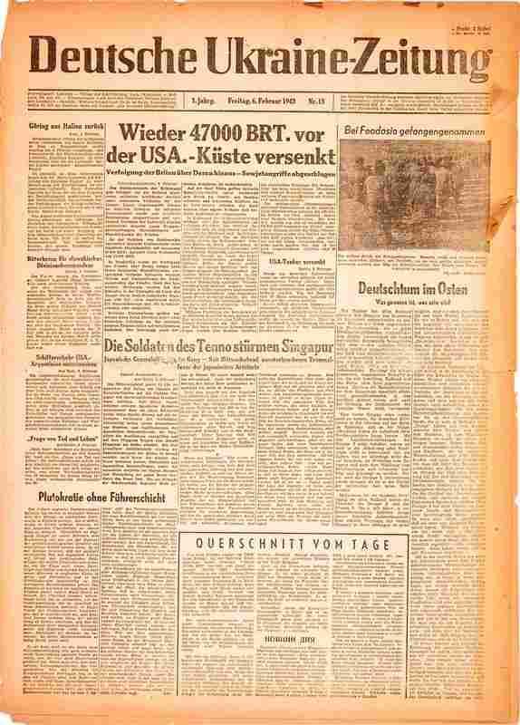0304: GERMAN OCCUPATION NEWSPAPER IN UKRAINE