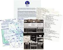 0462: BUZZ ALDRIN CLIPBOARD & PAPERS COLLECTION