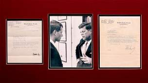 0595 JOHN F  ROBERT F KENNEDY SIGNED LETTERS WPIC