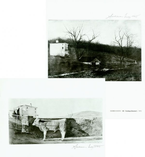 0686: ANDREW WYETH SIGNED BOOK PRINTS / KUERNER FARM