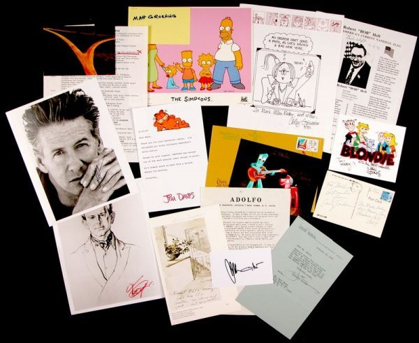 0689: 14 ARTISTS & CARTOONISTS SIGNED COLLECTION