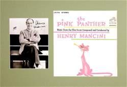 HENRY MANCINI SIGNED PHOTO W/ALBUM DISPLAY