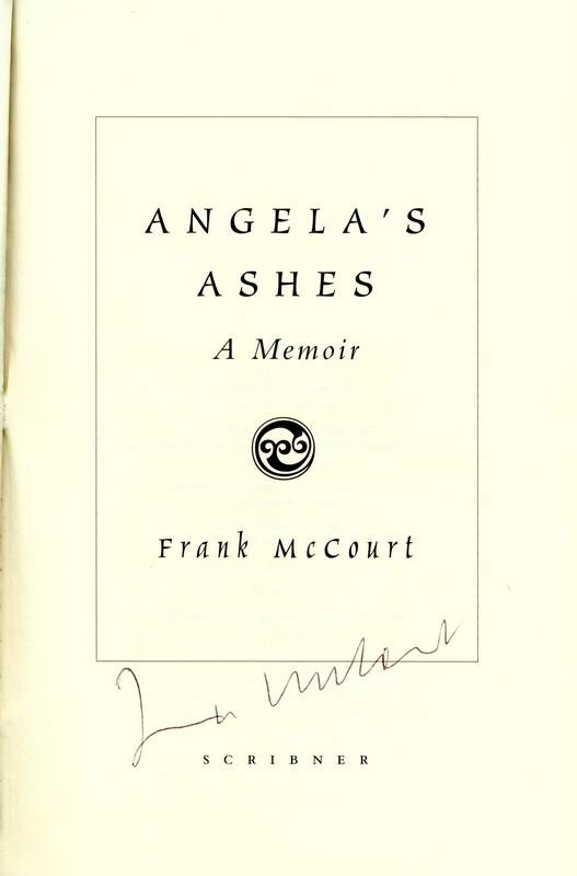0791: FRANK MCCOURT SIGNED FIRST EDITION ANGELA'S ASHES - 2