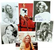 0951: 6 ANGIE DICKINSON SIGNED PHOTOGRAPHS
