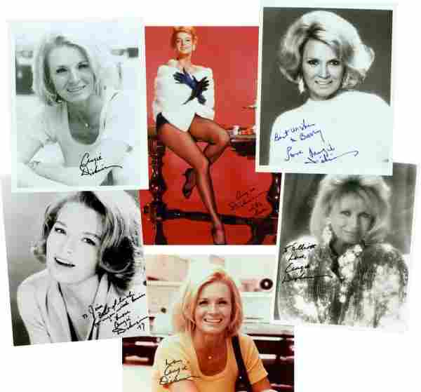 6 ANGIE DICKINSON SIGNED PHOTOGRAPHS
