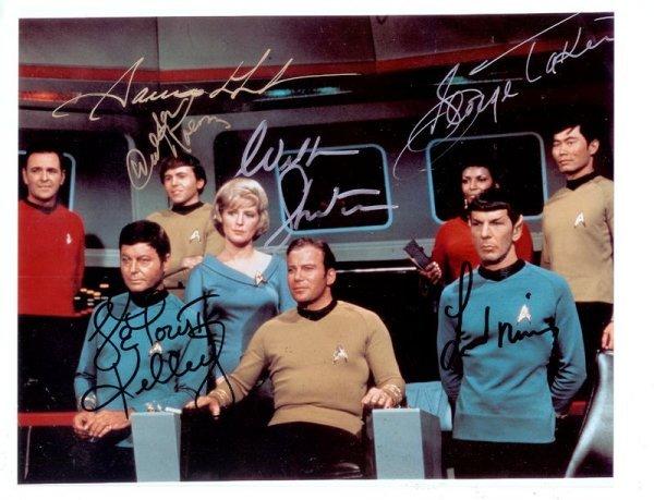 1076: ORIGINAL STAR TREK CAST SIGNED PHOTOGRAPH