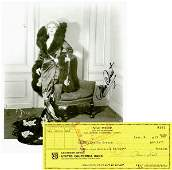 1104 MAE WEST SIGNED PHOTO  BANK CHECK