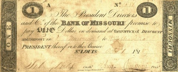 0038: AUGUSTE CHOUTEAU SIGNED DOCUMENT