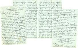 0118: JOSEPH HOOKER HANDWRITTEN SIGNED MILITARY LETTER