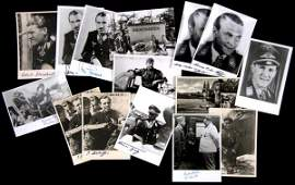 0223 LUFTWAFFE ACES SIGNED PHOTO COLLECTION