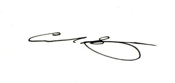 0329: CARL SAGAN SIGNED CARD W/IMAGE DISPLAY - 2
