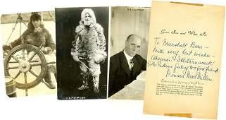 0349 DONALD B MACMILLAN SIGNED BOOK PAGE WPHOTOS