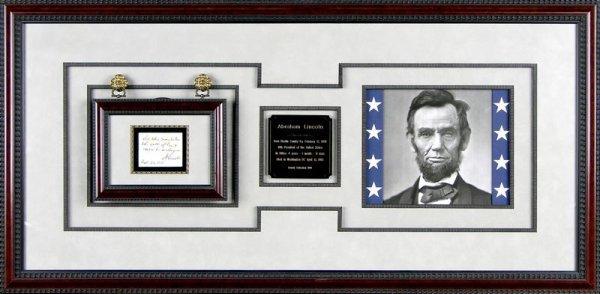 0388: ABRAHAM LINCOLN HANDWRITTEN SIGNED ENDORSEMENT