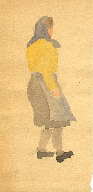 0528: CAMILLE PISSARO SIGNED WATERCOLOR STUDY