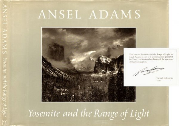 0531: ANSEL ADAMS SIGNED ART BOOK FIRST PRINTING