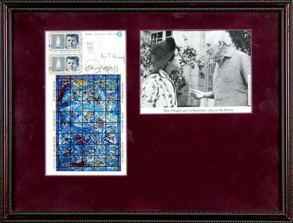 0534: MARC CHAGALL & ROSE F. KENNEDY SIGNED FDC