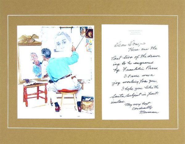0541: NORMAN ROCKWELL HANDWRITTEN SIGNED SIGNED LETTER