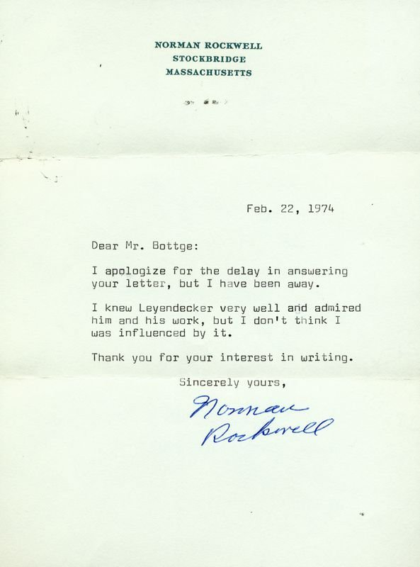 0542: NORMAN ROCKWELL SIGNED LETTER