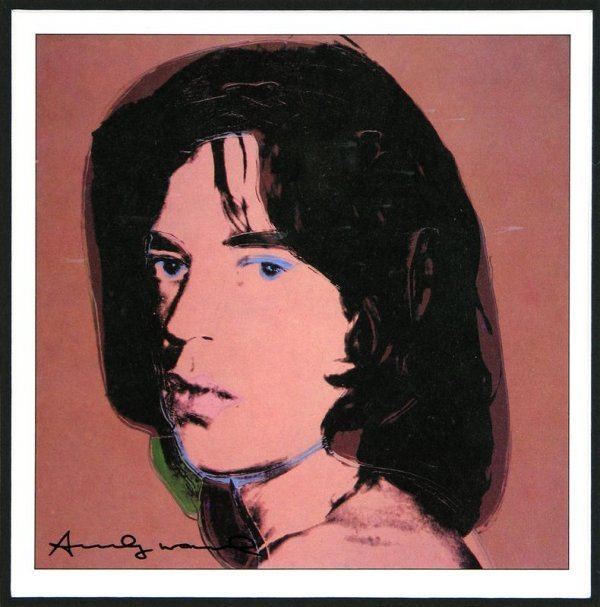 0543: ANDY WARHOL SIGNED BOOK PRINT OF MICK JAGGER - 2