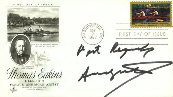 0544: ANDY WARHOL SIGNED FIRST DAY COVER