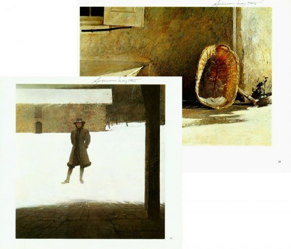 0545: ANDREW WYETH SIGNED BOOK PLATE PRINTS