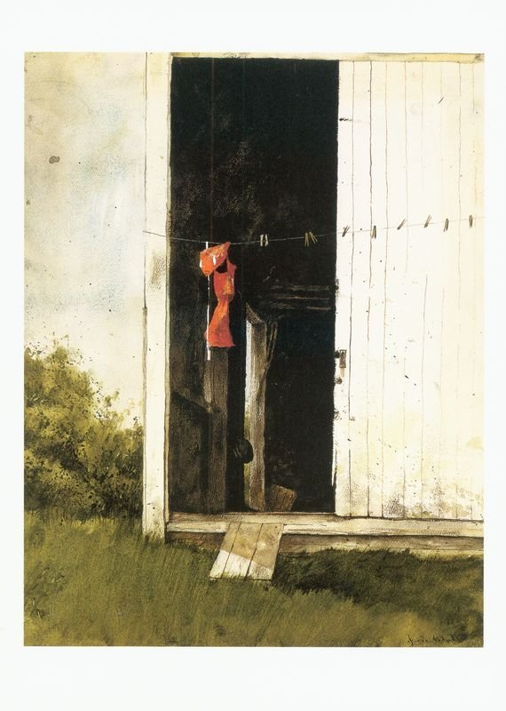 0546: JAMIE WYETH SIGNED 2 MUSEUM CARD COLOR PRINTS - 3