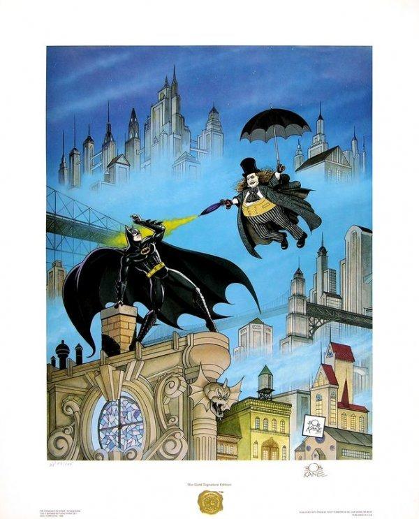0555: BOB KANE SIGNED LTD EDITION BATMAN RETURNS PRINTS