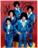 0787 JACKSON FIVE MEMBERS SIGNED PHOTO WMICHAEL