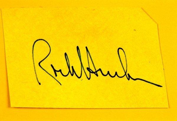 0825: ROCK HUDSON /SUSAN ST. JAMES SIGNED CARDS W/PIC - 2