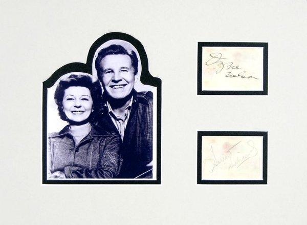 0845: OZZIE NELSON & HARRIET HILLIARD SIGNED SIGNATURES