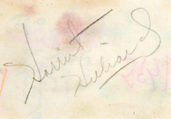 0845: OZZIE NELSON & HARRIET HILLIARD SIGNED SIGNATURES - 3