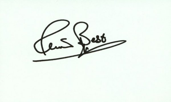 0880: RINGO STARR SIGNED T-SHIRT /PETE BEST SIGNED CARD - 2