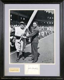 0907: BABE RUTH & JACK DEMPSEY SIGNED CARDS