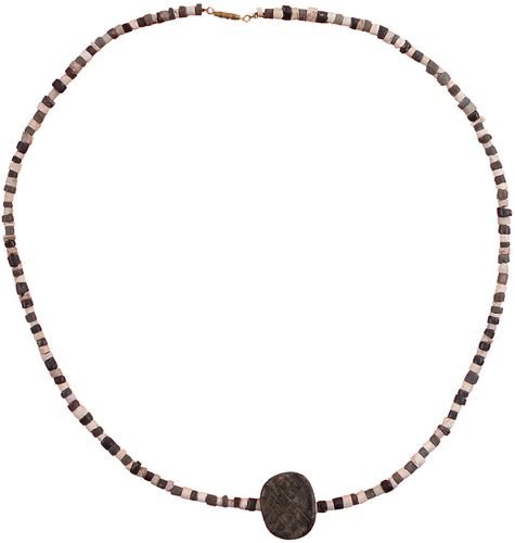 2: BABYLONIAN NECKLACE WITH SUMARIAN SEAL