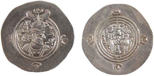 14: SASANIAN SILVER COINS