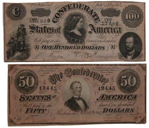 199: 1864 Confederate Notes