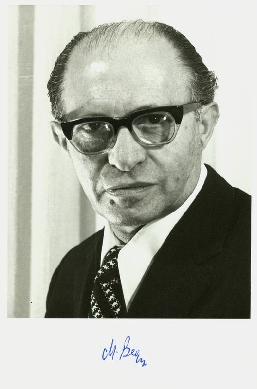 13: MENACHEM BEGIN SIGNED PHOTOGRAPH